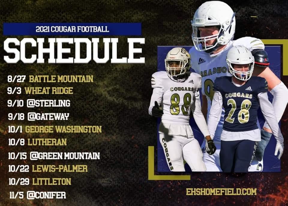 Evergreen High Football Schedule