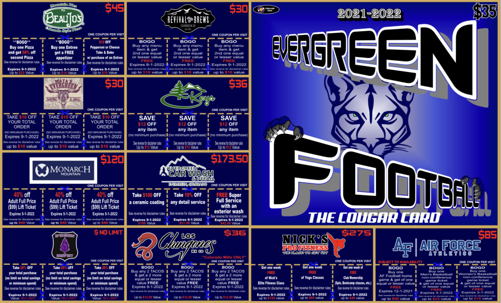 Evergreen Cougar Cards