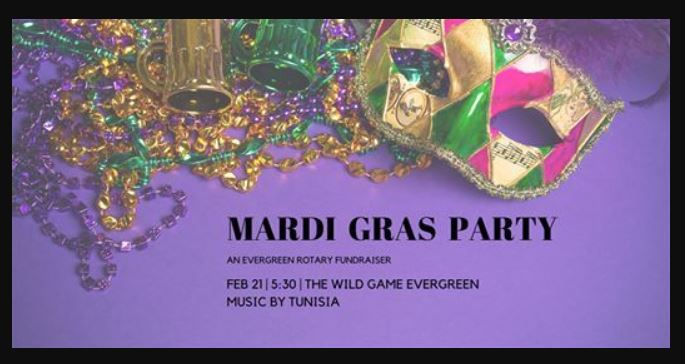 Mardi Gras Evergreen Rotary